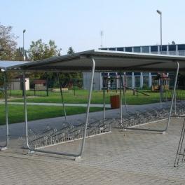 Přístřešek s pultovou střechou - základní modul